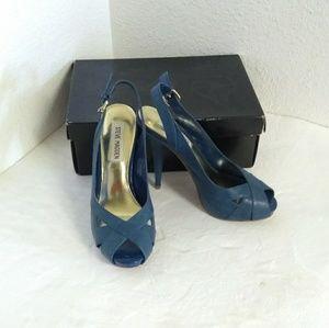 Steve Madden Electric Blue Platform Shoes.